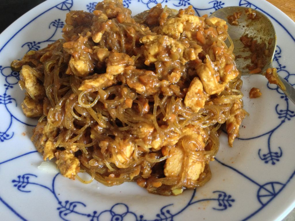SCD-Chicken-Korma auf nem Teller
