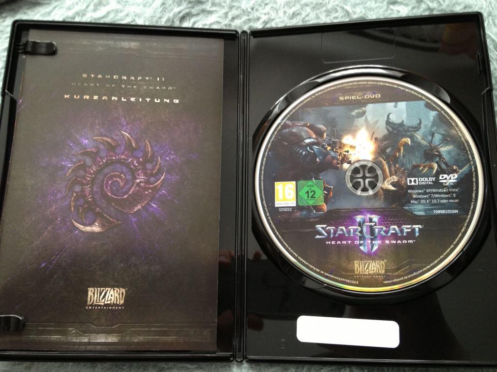 Spiel-DVD der SCII: HotS CE
